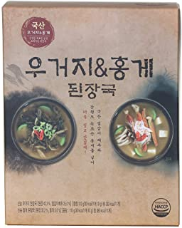 Korean Instant Cabbage & Red Crab Soybean Paste Soup 22 Pack (Cabbage 11pcs + Red Crab 11pcs) , Single-serving Packing, Just Pour Hot Water