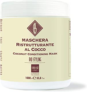Ever Ego Italy Coconut Conditioning Mask For Dry, Treated Hair | Moisturizing And Hydrating Hair Care Product For Men And Women | 1L Tub