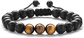 Men Women Gifts Bracelet Braided Rope Natural Tiger Eye...
