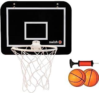 comprar comparacion Mini Canasta de Baloncesto Infantil de Interior Incluye Tablero, Bomba y 2 Pelotas de Goma - Apto para Puertas de Casa, Of...
