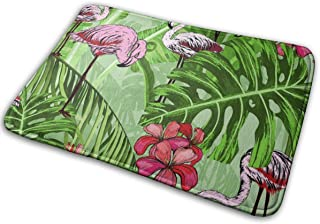 BLSYP Flores Tropicales e Imagen Vectorial sin Costuras Alfombrilla para Puerta Alfombrillas Alfombrilla de Entrada Alfomb...