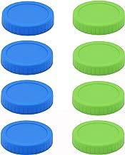 8pcs Pack Wide Mouth Mason Jar Lids Storage Caps, Leak Free and Airtight, Compatible with Ball & Kerr Mason Jars