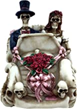 JS Gifts Skeleton Wedding Day of Dead Bride Groom in Car