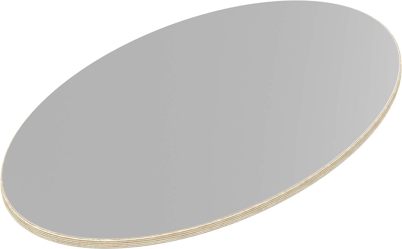Farben und St/ärken zur Auswahl Art.nr 18mm Multiplexplatte wei/ß /Ø 40 cm rund B-Ware melaminbeschichtet Restposten verschiedene Gr/ö/ßen 995-015 Kanten gefast /Ø 400 mm St/ärke 18mm