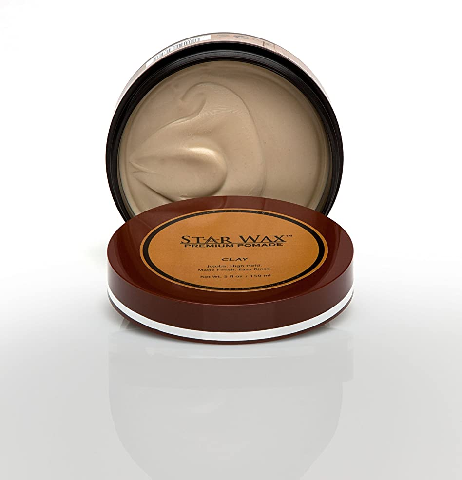 きらめき名前を作るブロンズStar Wax | Premium Pomade, Clay(スターワックスプレミアム ポマード「クレイ」)?Star Pro Line(スタープロライン)製?5(液量)オンス/150ml