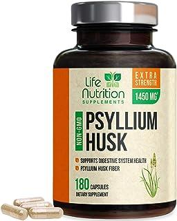 Sponsored Ad - Psyllium Husk Capsules 1450mg - Premium Psyllium Fiber Supplement - Made in USA - Natural Soluble Fiber, He...