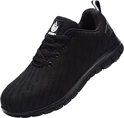DYKHMILY Steel Toe Work Shoe Men Women Trainers Shoes Puncture-Proof Work Safety Sneakers Light Breathable Industrial & Construction Shoe