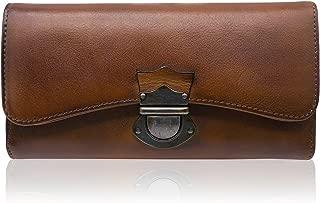 Women's Ladies Large Capacity Dip Dye Genuine Leather Wallet Card Holder Purse