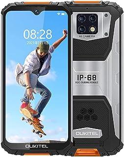 OUKITEL WP6 simフリー スマホ 本体(2021)、10000MAHバッテリー18W急速充電、Helio P70 6GB + 128GB、6.3インチFHD +、48 MPクワッドカメラ、 IP68&IP69K防水、防塵、耐衝撃、指...