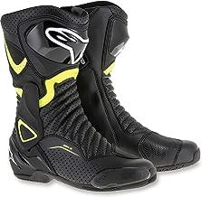 Alpinestars SMX-6 V2 Vented Street Boots-Black/Yellow Fluo-44