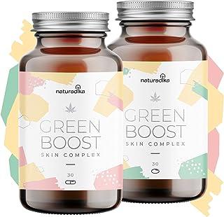 GREEN BOOST SKIN COMPLEX con Aceite C B D Oil Resveratrol Vitamina e y Acido hialuronico | 2 exclusivos Productos para e...