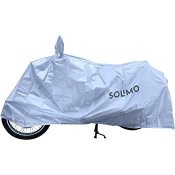 Amazon Brand - Solimo Royal Enfield UV Protection & Dustproof Bike Cover (Silver)