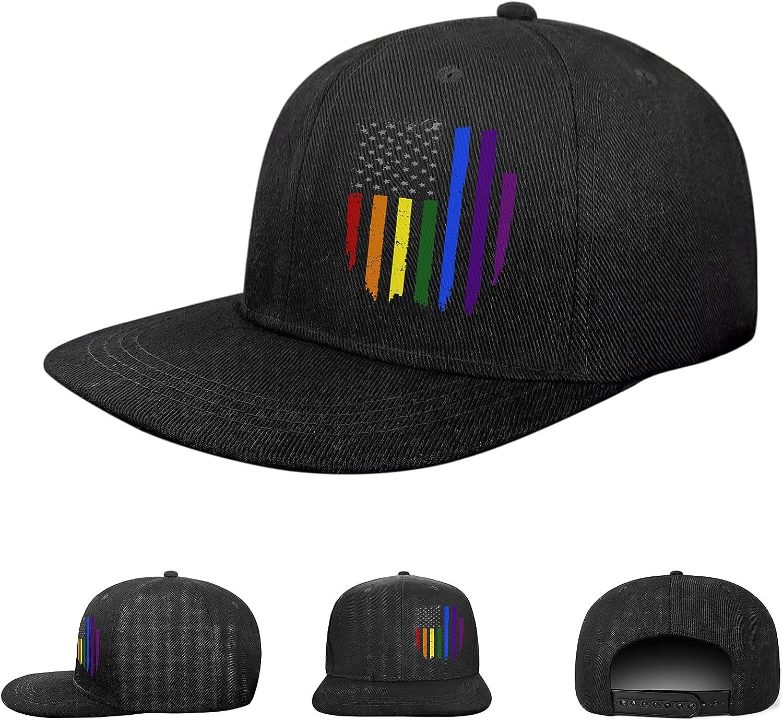Snapback Hats for 2021 spring and summer new Men Flat Bill Max 54% OFF Cap Adjus Trucker Baseball Black