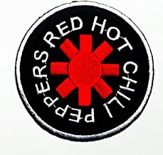 Sew on Embroidered Patch logo 218 Rock Music RED HOT CHILLI PEPPERS Iron on