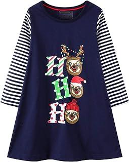 Girl Dress Long Sleeve Casual Cotton Tulle Tutu Christmas...