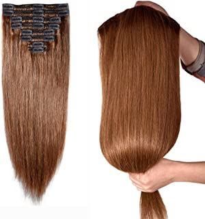 Best clip in human hair extensions one piece Reviews