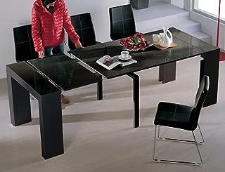 Viva Home Audrey Dining Table, Black Gloss