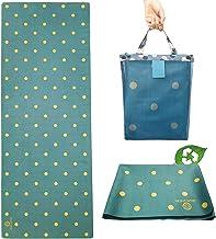 GOLDEN® Travel Yogamat Antislip 1/16 Inch - 1.5 MM Dun Wasbaar Opvouwbaar 2-in-1 Handdoek, natuurlijk rubber met draagtas,...