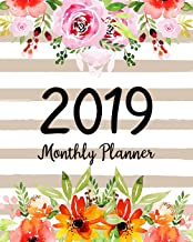 2019 Monthly Planner: A Year | 12 Month | January 2019 to December 2019 For To do list Journal Notebook Planners And Academic Agenda Schedule ... weekly monthly Calendar planner) (Volume 2)