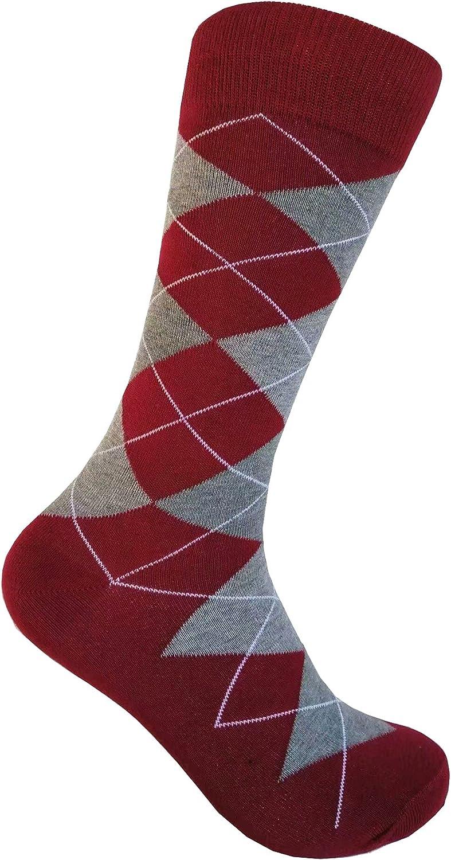 Men's Burgundy Dress socks,One size fits most men; Sock Size 10-13.