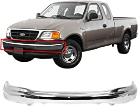 MBI AUTO - Chrome, Steel Front Bumper Face Bar for 1999-2002 Ford F150 99-02, FO1002356