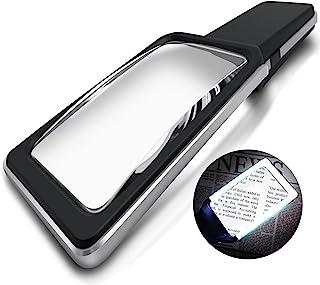 MagniPros 3X (300٪) Magnifying Glass با [10 LED ضد انعطاف پذیر و قابل تنظیم] -Evenly Lit Viewing Area- Brightest و Best Reading Magnifier برای چاپ های کوچک، سنسورهای کم چشم انداز، Degeneration ماکولا