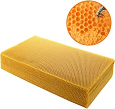Natural Beeswax 30pcs Beeswax Honeycomb Sheets Wax Foundation Beekeeping Sheet Bee Nest Foundation Wax Sheet Beehive Bed H...