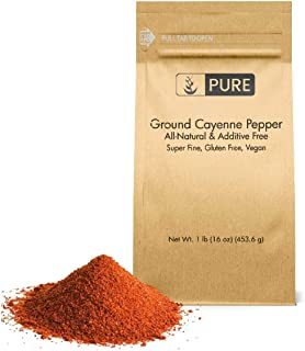 Ground Cayenne (Red) Pepper (1 lb) by Pure Organic Ingredients, Gluten Free, Vegan, Used in Hot Sauces & Spicy Food, Eco-Friendly Packaging