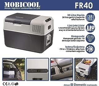Mobicool FR40 AC/DC - Nevera termoeléctrica portátil, conexiones 12 / 24 / 230 V,  38 litros de capacidad, clasificación energética A+, color azul/gris
