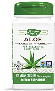 Nature's Way Aloe Latex with Fennel 140 mg, 100 Vcaps