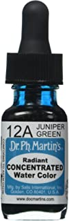 زجاجة ألوان مائية مركزة مشعة من Dr. Ph. Martin's (12A) زجاجة ألوان مائية 12 جم، لون العرعر الأخضر، زجاجة واحدة