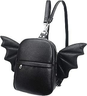 Women Fashion Mini Backpack | Detachable Bat Angel Wing Shoulder Bag