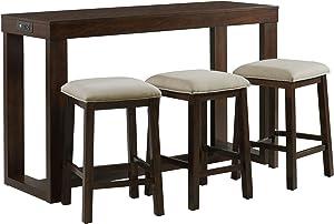 Picket House Furnishings Multipurpose Bar Table Set (Dark Walnut)
