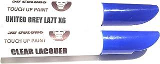 SD COLORS Lackstift Reparatur Set LA7T X6, 12 ml, Pinsel mit Kratzabsplitterung, Farbcode LA7T X6, Grau (Farbe + Lack)