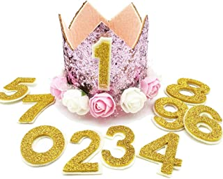 Rimobul My Girl Pet's Fancy Crown Birthday Hat with 0-9 Numbers