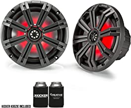 "$169 » Kicker 8"" Charcoal Marine LED Speakers - 1-Pairs of OEM Replacement Speakers"