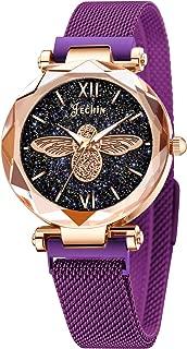 Fashion Women's Starry Sky Watch Magnetic Buckle Bracelet Dress Watches