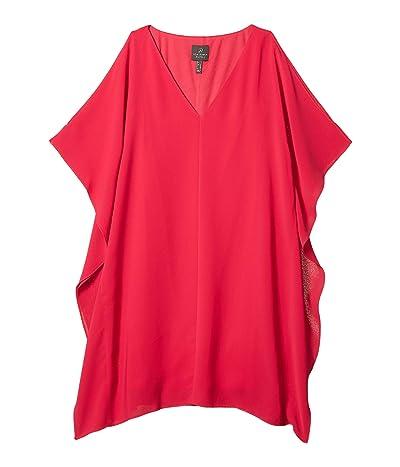 Adrianna Papell Gauzy Crepe Caftan Dress (Fiesta Pink) Women