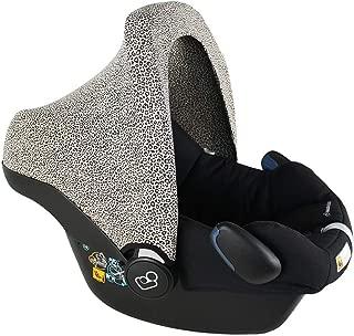 Capota para el Asiento del Autom/óvil Funda Protectora de la Sombrilla para MaxiCosi Citi Pebble Cabriofix SPS Rock Contro la lluvia Algod/ón UV30 Oeko-Tex Animales azules Plus