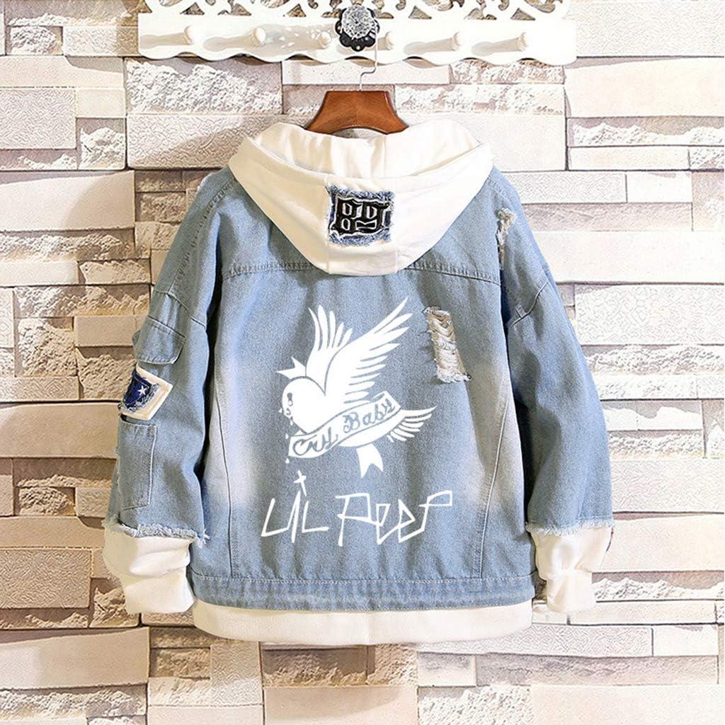 KPOP Rapper Denim Jacket Jeans Love Printed Fashion Sport Hip Hop Hoodie