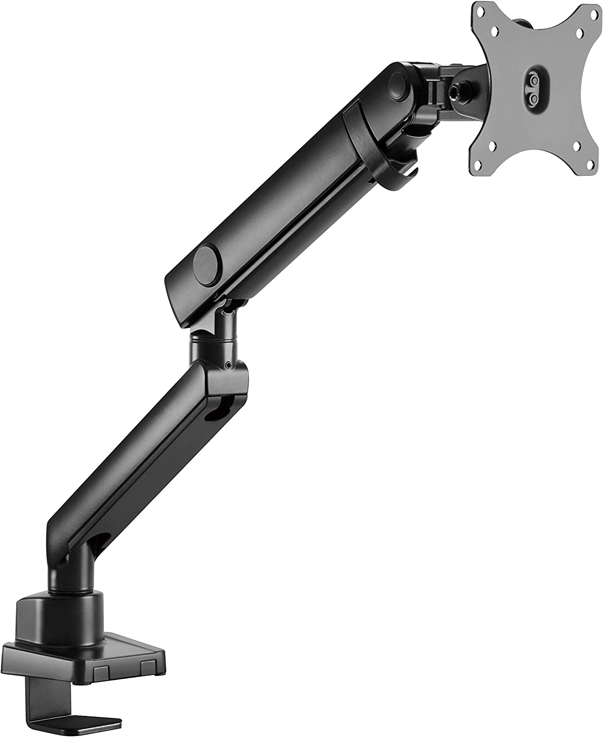 Amer Mounts | LED LCD Monitor Arm | Hydra Lift Articulating Arm | Clamp and Grommet Base | (Single 17