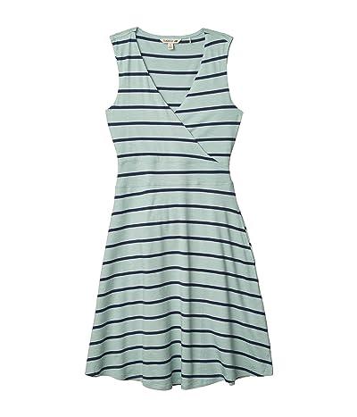 Toad&Co Cue Wrap Sleeveless Dress (Blue Surf Wide Stripe) Women