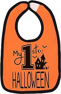 Aiden's Corner Handmade Baby Holiday Bibs - My First Halloween