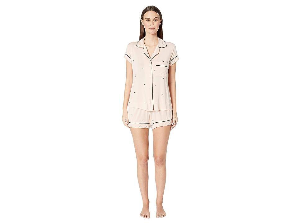 Eberjey Dots The Short Pajama Set (Pink Tint/Black) Women