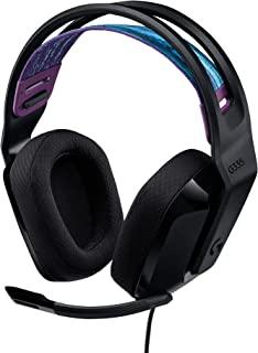 Logitech G335 Auriculares con Cable para Gaming, Micrófono Volteable, Jack de 3.5mm, Almohadillas de espuma viscoelástica,...