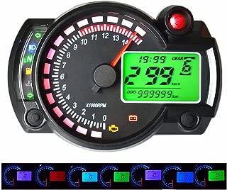 tac/ómetro con luz Negra od/ómetro Digital con Pantalla de kilometraje MASO Veloc/ímetro Universal para Motocicleta