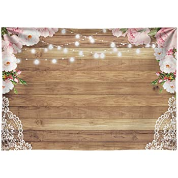 Blue Wooden Board and White Petals Wedding Baby Photography Background Custom Photography Studio Photography Background