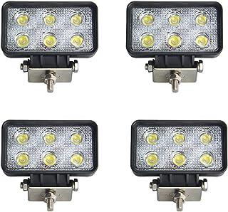BRIGHTUM 18W Work Light Arbeitsscheinwerfer LED Nebelscheinwerfer Rücklicht Licht vorne und hinten ECC Fahrzeuge Offroad Boot Traktor LKW Fahrzeuge Industrielle 12 V 24 V (4 Stück)