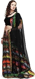 GE Export Women's Velvet Semi stitched Lehenga Choli(Multicolor) Amz Lehenga 0085