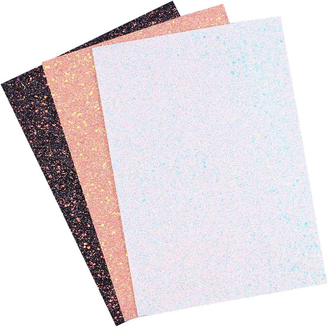 Healifty 3pcs Shiny Superfine Glitter online shop Leather Max 64% OFF S Fabric PU